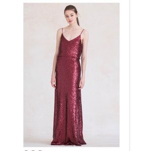 Jenny Yoo Jules bridesmaid dress - claret
